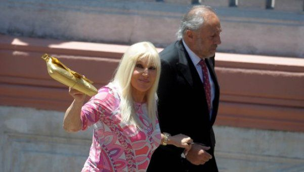 Susana Giménez estuvo en Casa Rosada en la jura de Macri