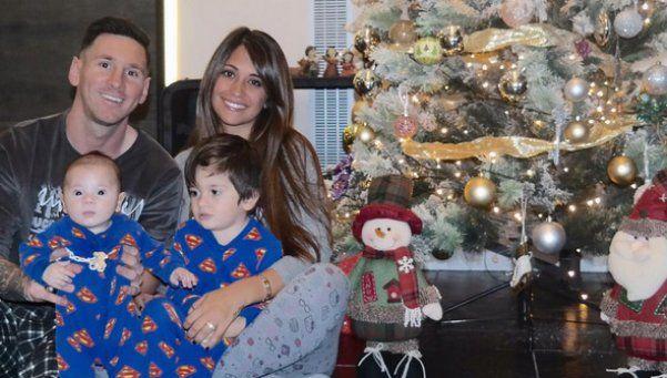 La alegría navideña llegó a la casa de los Messi