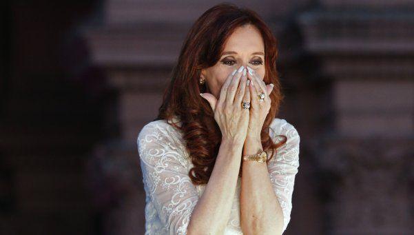 Las lágrimas de Cristina Kirchner en su reaparición pública