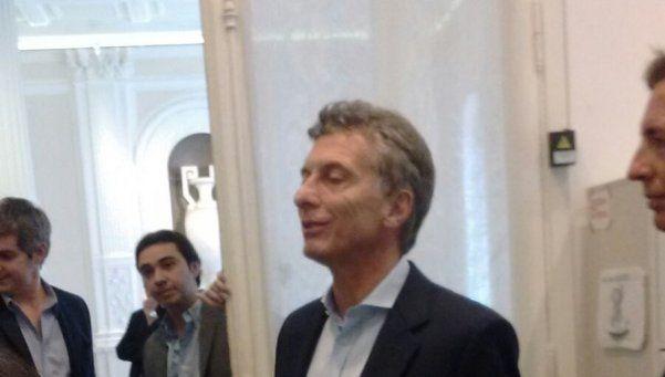 Macri sorprendió a los periodistas en la Rosada