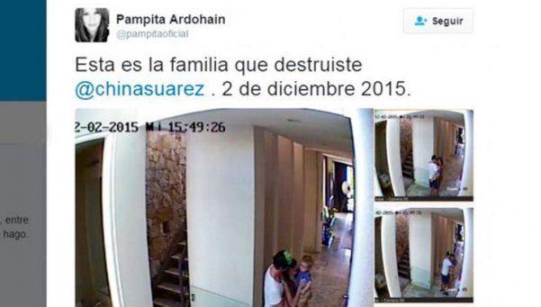 "Pampita recargada: ""Esta es la familia que destruiste, China Suárez"""