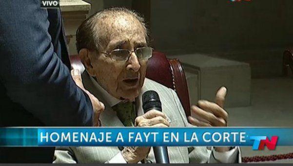 La Corte homenajeó a Fayt y respaldó la designación de jueces