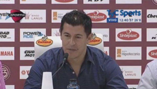 Lanús presentó a Almirón como su nuevo director técnico