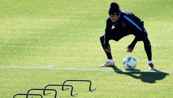 Con Neymar pero sin Messi, Barcelona se entrenó pensando en River