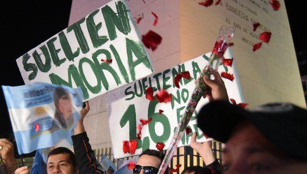 """Apoyo a Moria: """"Liberen a Mo"""" tuvo su marcha"""