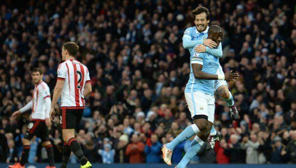Sin Agüero, el City goleó al humilde Sunderland