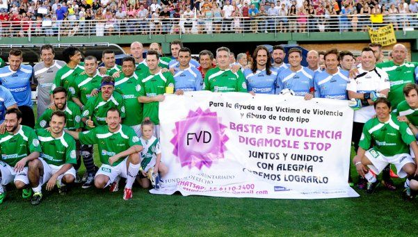 El Pupi Zanetti hizo su tradicional partido solidario junto a Axel