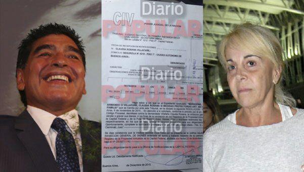 Exclusivo | Los documentos que prueban la inhibición de Diego contra Claudia