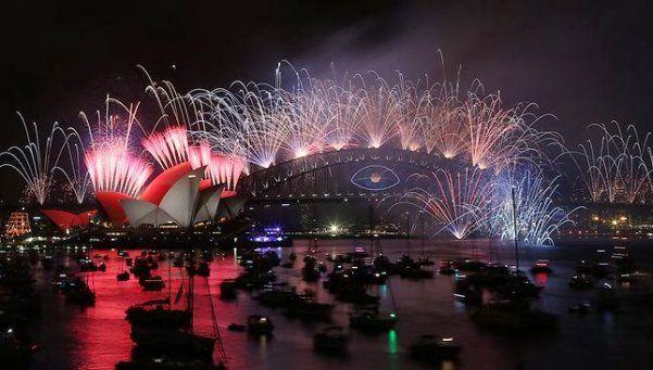 Video | Así recibieron el 2016 en Australia