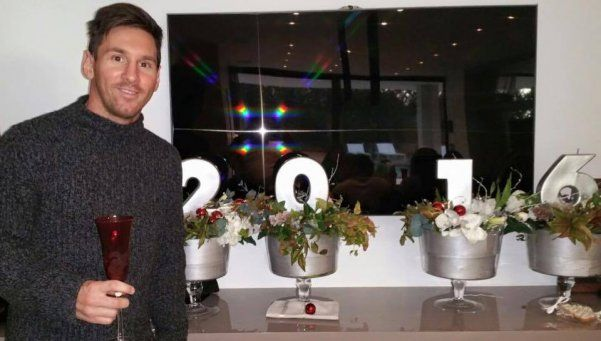 El saludo de Messi y Mascherano por el Año Nuevo