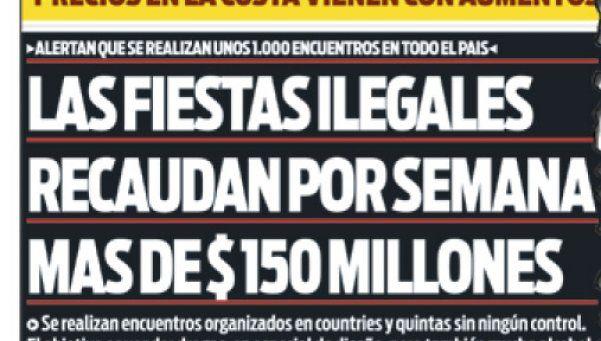 DIARIO POPULAR había revelado que se hacen mil fiestas ilegales por semana
