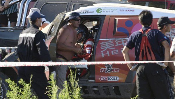 Dakar 2016: así quedó el auto que se accidentó en Arrecifes