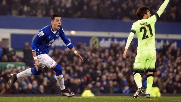Ramiro Funes Mori marcó en la victoria de Everton sobre el City
