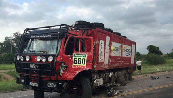 Un camión del Dakar chocó en Córdoba: un muerto