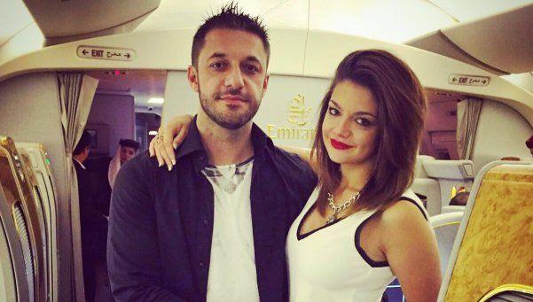 Morla viajó a Dubai y presentó a su novia, una ex conejita