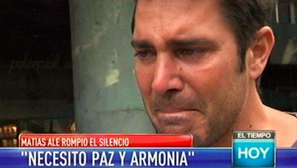 Matías Alé se quebró al aire en su reaparición mediática