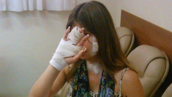 La desfiguró un comisario: teme y pide custodia