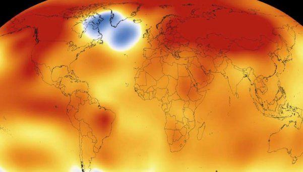 En 2015 se registró la temperatura más alta del planeta