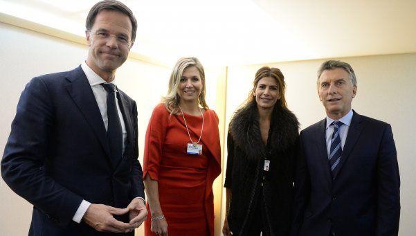 Macri y Juliana Awada se reunieron con Máxima Zorreguieta