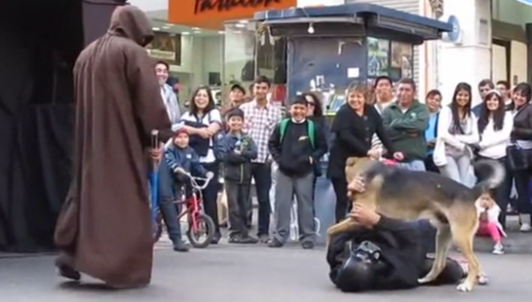 Perro callejero derrotó al Darth Vader más necio de la galaxia