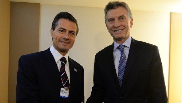 Macri con Peña Nieto: Queremos relanzar las relaciones bilaterales