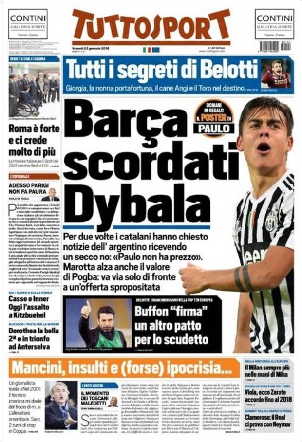 El Barça puso la mira en Dybala, pero la Juve no quiere saber nada
