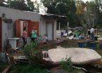 Cola de un tornado provocó destrozos en Mar del Plata