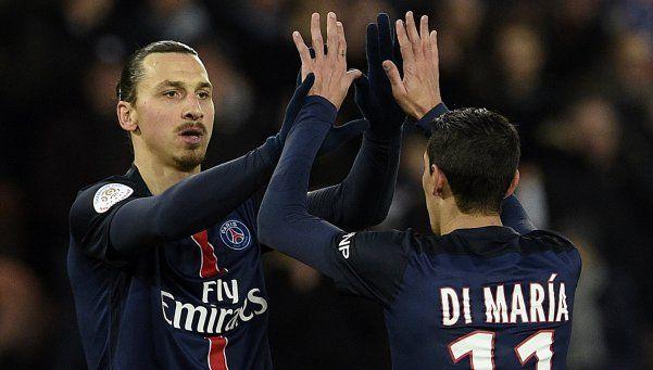 Di María anotó un doblete para el PSG, que no tiene rival en Francia