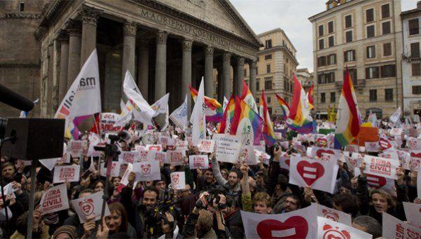 Marchas por la unión civil para homosexuales en Italia