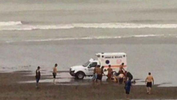 Cayó un rayo en una playa de Monte Hermoso: hay seis heridos
