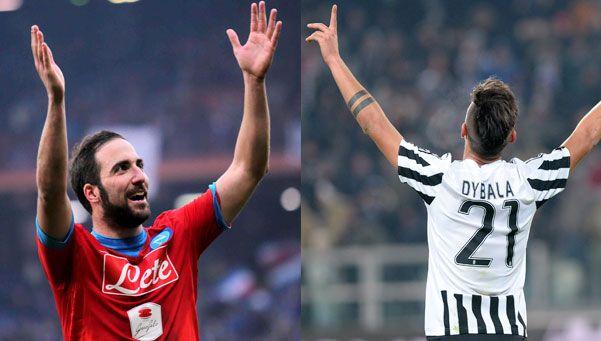 Goles argentinos por el mundo: Higuain y Dybala, imparables en Italia