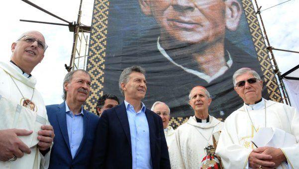 Macri participó en una misa por la canonización del cura Brochero