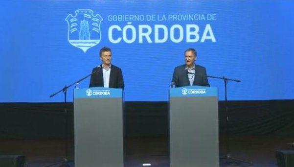 """De Macri a los gremios de Córdoba: """"Es momento de poner el hombro"""""""
