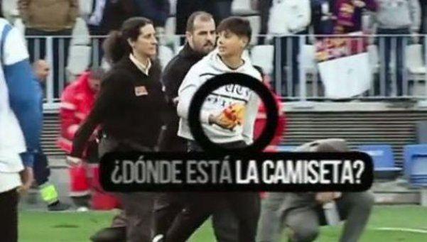 Insólito: Messi le regaló camiseta a niño y Seguridad se la robó