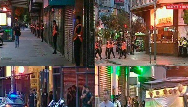 Caballito: megaoperativo anti-manteros en avenida Rivadavia