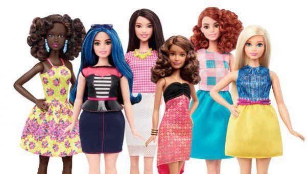 Barbie rompe el molde con proporciones corporales y razas