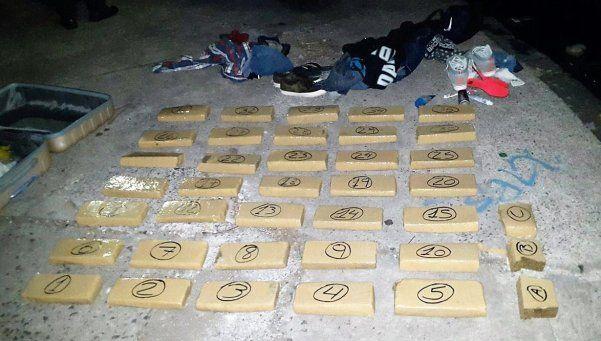 35 kilos de marihuana fueron incautados en la Villa Zavaleta