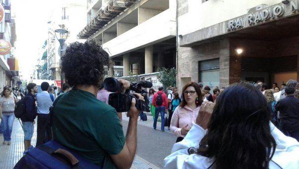 Cynthia García fue a Radio Nacional a reclamar por su despido