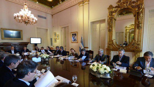 Macri encabeza la reunión de Gabinete en la Casa Rosada