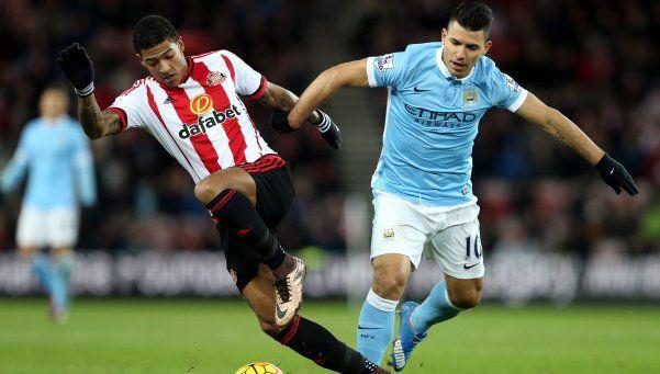 El City derrotó a Sunderland con gol de Agüero y es escolta