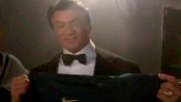 Stallone posó con la camiseta de Boca