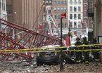 Videos | Gigantesca grúa cae en Nueva York: un muerto