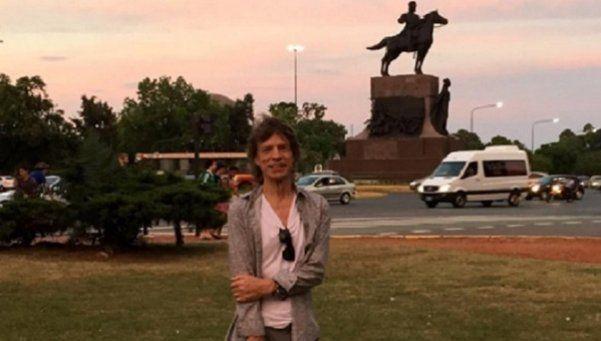 Mick Jagger salió a pasear por Palermo... ¡Y nadie lo reconoció!