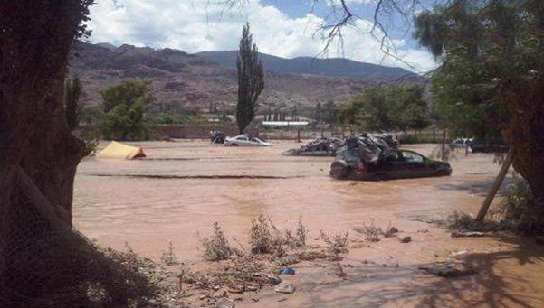 Más de 300 personas evacuadas por temporal en Tilcara