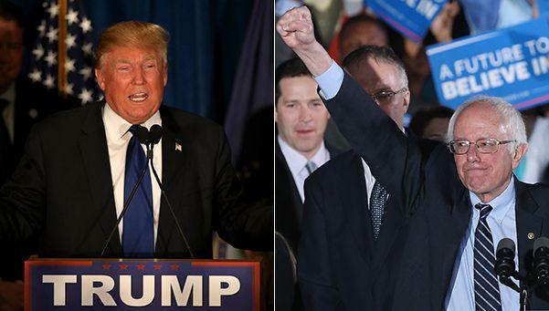 Trump y Sanders ganaron caminando en New Hampshire