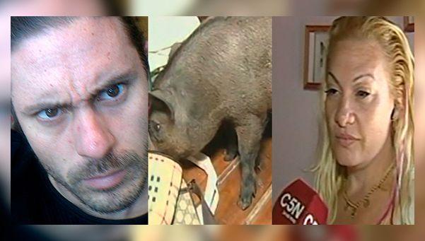 Pérez Corradi: allanamiento con gases, destrozos y un perro muerto