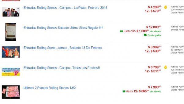 Las entradas de los Stones se cotizan hasta 65 mil pesos en la reventa