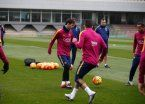 A dos días de su operación, Messi volvió a entrenar