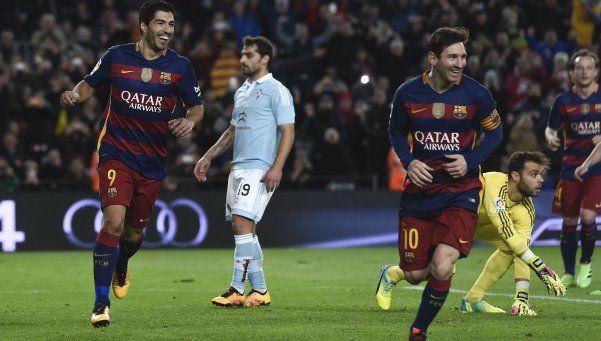 Messi se divirtió, Barcelona aplastó al Celta y sigue firme arriba