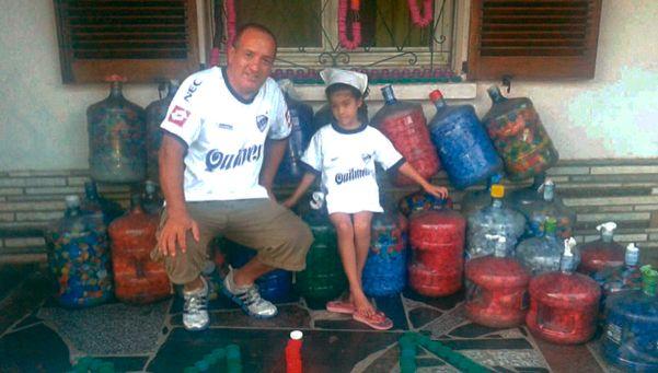 Un ejemplo de solidaridad de padre e hija quilmeños